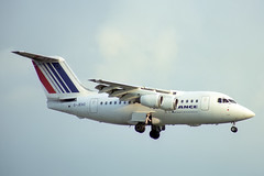 G-JEAO British Aerospace 146-100 Air France (pslg05896) Tags: gjeao bae146 airfrance jerseyeuropean lhr egll london heathrow