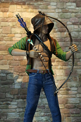 another target for the special arrow (photos4dreams) Tags: phicen doll puppe 16 canoneos5dmark3 canoneos5dmarkiii tabletopphotography puppenstube diorama silicone silicon lebensecht jamesfranco actor schauspieler oliverqueen greenarrow shooter superhero dc kitbash