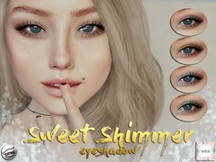 WarPaint* @ Whimsical - Sweet Shimmer eyeshadow (Mafalda Hienrichs) Tags: warpaint war paint whimsical event release secondlife applier catwa mesh head makeup sweet shimmer eyeshadow shadow bento