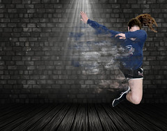 Chloe Final Exam Pt. II (sierras1313) Tags: 3d render grunge interior wall room stone background presentation wood vintage concrete texture stain stained abstract emo grungebackground scratch scratched textured illustration old brick tiles floor warehouse industrial display
