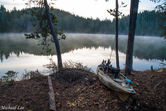 Echo Lake 'yak (cdcguard) Tags: brooktrout fishing nature fishin outdoors troutfishing lake recreation echolake trout kayak morning fog