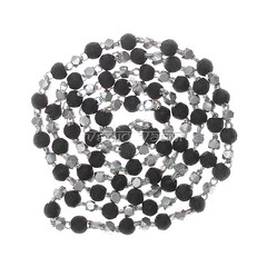 Black Tulsi Beads Mala in Silver Capping | VedicVaani.com (vedicvaani.com) Tags: tulsi beads mala black kanthi chain capping silver online benefits spiritual healing japa wearing rosaries