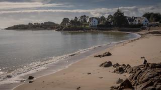 Plage à La Trinité sur Mer (Morbihan) - France