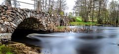 The old StoneBridge (J. Pelz) Tags: countryside landscape bridge longexposure nature water stream sweden panorama stonebridge kronobergslän se