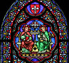 The Blessed Trinity (Lawrence OP) Tags: holytrinity father son holyspirit stainedglass lille cathedral