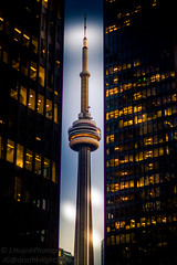 Toronto Dominion Center May 7 2018 (deathknight5000) Tags: td toronto torontolife city citylife longexposure lights blue orange cntower