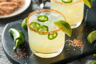 Homemade Spicy Margarita with Limes