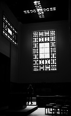 worship [1] (frax[be]) Tags: streetphotography church atmosphere dark highcontrast composition lightshadows mystic rokkor 28mm fuji xe3 indoor monochrome noiretblanc noir poetry silhouette blackwhitephotos blackandwhite bw