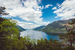Sørfjorden 2018 (kasperskreien) Tags: nikon d700 fx fullframe landscape vestlandet norway nature beautiful weather sun spring sky blue bright color cloudy contrast composition clouds cliff water wood wet wide trees tree tokina woods norge odda outdoor mountain hordaland hardanger
