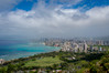 Honolulu from Above (michaelheiner) Tags: honolulu hawaii oahu waikiki beach ocean city clouds trees diamondhead crater blue water buildings