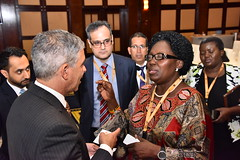 Speaker Rebecca Kadaga networking with investors on second day of AIM conference in Dubai (1)