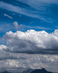 Cloudy sky [day 157] (gerlos) Tags: meteorologicalphenomenon wind computerwallpaper cumulus anyvision fell phenomenon atmosphereofearth mountscenery landscape mountain morning highland ridge hill sunlight horizon cloud daytime mountainrange sky 365 atmosphere calm 365project labels