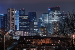 A night in Paris (Lucas Gangneux) Tags: urban landscape urbanscape paris france europe skyline skyscrapers buildings building finance