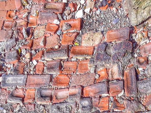 A mixture of bricks.