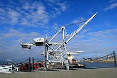 DSC_5707-61 (jjldickinson) Tags: nikond3300 103d3300 nikon1855mmf3556gvriiafsdxnikkor promaster52mmdigitalhdprotectionfilter freeway terminalislandfreeway ca47 ca103 longbeach portoflongbeach polb harbor longbeachharbor shippingcontainer container ship containership crane bridge