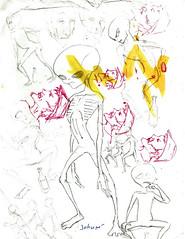 Esboços 1 (Cesar Crash) Tags: antigo old drawings desenho esboço sketch caderno
