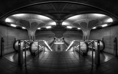 Subway Station XVI (ramstyle pictures) Tags: subway subwaystation underground ubahn ubahnstation monochrom blackwhite bw schwarzweis sw nikon ramstyle ramstylepictures darkstyle darkstylereloaded