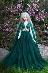 Teal Swan (AyuAna) Tags: bjd ball jointed doll dollfie ayuana design handmade ooak clothing clothes dress set outfit fashion couture gown robe vetement fantasy romantic style sd sd13 sd10 feeple60 size littlemonica chloe hybrid sadol love60 body whiteskin