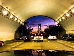 One Way Out (Thomas Hawk) Tags: america baybridge california sanfrancisco usa unitedstates unitedstatesofamerica sunset tunnel us