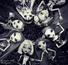 (Linayum) Tags: monster monsterhigh mattel doll dolls muñeca muñecas toys toy juguetes monochrome clawdeenwolf isidawndancer venusmacflytrap honeyswamp abbeybominable gigigrant ghouliayelps linayum mh