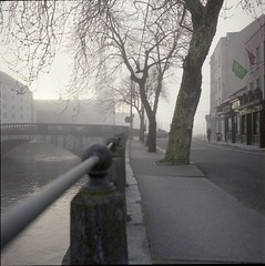 foggy sunrise 2 (Scenes from the life of a double monster) Tags: film fuji mediumformat rollei rolleiflex spring cork color 6x6 square