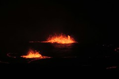 magma fountains (BarryFackler) Tags: hawaiivolcanoesnationalpark volcano halemaumau puna hawaiiisland lava nature geology heat magma vulcanism hawaii nationalparkservice night glow outdoor 2018 nationalpark spatter barryfackler barronfackler hawaiicounty polynesia ecology bigisland volcanic caldera smoke fumes crater ash island nps park