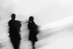 Only memories remain... (Lucas Harmsen) Tags: blackwhite monochrome streetphotography blur negativespace simplypoetry mysterious abstractphotography strongcontrast memories human people lucasharmsen blackwhitephotography