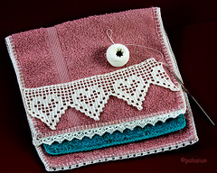 crochet hearts (polelena24) Tags: crochet lace heart white handmade hook ball
