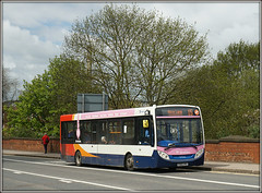 37056, Westbridge (Jason 87030) Tags: uk bridge pink blue red orange white bus tree lens northampton flickr sony tag wheels transport 15 alpha e200 northants branding stagecoach midlands enviro westbridge a6000 northamptonshure branded