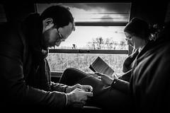 Passengers (Mustafa Selcuk) Tags: 2018 paris parisienne rer blackandwhite bmw bw siyahbeyaz monochrome noiretblanc neb nb fujifilm fujifilmturkey fujifilmfrance street streetphotography streetphotographer xt2
