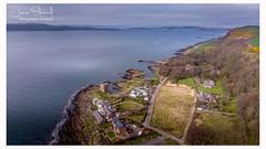 Portencross Ayrshire (James Edmond Photography) Tags: 2018 ayrshire blue drone grass landscape photography portencrosscastle scottish sea sky spring castle portencross