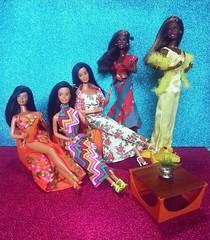 My Queens 😍💙 (Lo_zio87_Barbie Collector) Tags: male doll collector hawaiian superstar barbie christie 1976 1978 2018 queens beauty in love