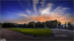ive been busy a lots ! its been a long while didint use flickr !! helooo back ! a soccer field at the beautiful cloudy sunset ! thank u (said.l1234) Tags: soccer grass field pitch beautiful sunset 5dmarkiii love cloudy clouds