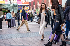 Slinky (burnt dirt) Tags: asian japan tokyo shibuya station streetphotography documentary candid portrait fujifilm xt1 laugh smile cute sexy latina young girl woman japanese korean thai dress skirt shorts jeans jacket leather pants boots heels stilettos bra stockings tights yogapants leggings couple lovers friends longhair shorthair ponytail cellphone glasses sunglasses blonde brunette redhead tattoo model train bus busstation metro city town downtown sidewalk pretty beautiful selfie fashion pregnant sweater people person costume cosplay letters black white bag blue