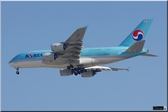 HL7611, Korean Air Lines, Airbus A380-861 (OlivierBo35) Tags: spotting spotter cdg roissy airbus a380 korean