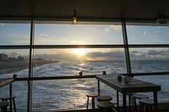 The View (SuperDrive) Tags: water sky sea sunset table sunlight seat idyllic scheveningen peer