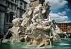 Fuente de los Cuatro Rios Plaza Navona. (Roma). (jorgerojas14) Tags: roma plaza rios nilo plata ganges danubio obelisco bernini fuente agua escultura historia caballo delfin leon serpiente barroco