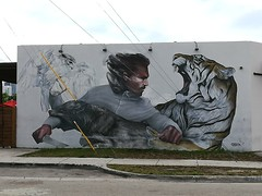 More art near Wynwood Walls Miami.