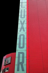 LUXOR (Fotoristin - blick.kontakt) Tags: netherlands rotterdam theatre architecture front building abstract lines red letter cinema luxor fotoristin