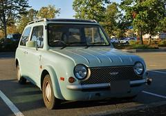 1989-91 Nissan PAO (Custom_Cab) Tags: nissan pao car 1989 1990 1991 hatchback 3door 3 door green import rhd aichi machine industry aichimachine