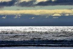 Late in the day (thomasgorman1) Tags: clouds sunset shimmer sea ocean coast nikon view coastal shore beach waves tide nature northwest or oregon rockaway