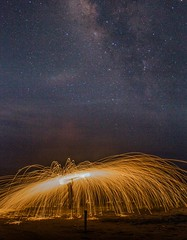 It's good to think we can do a lot. (ibtihajtafheem) Tags: steelwool steelwoolphotography steelwooldaily fire milkyway milkywayphotography urban night photography nightshooterz nightphoto sky stars starrynight astronight astro astroworld astronomy astrography astrophotography