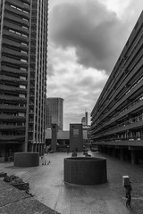 Flat Rate (subterraneancarsickblues) Tags: london cityoflondon barbican housingestate housing brutalist concrete urban blackandwhite bw canon rebelt2i eos550d kissx4digital sigma18250mm squaremile modernist