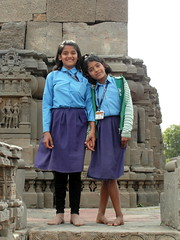 abhaneri smile (kexi) Tags: abhaneri rajasthan india asia girls smile two 2 pair schoolgirls samsung wb690 february 2017 instantfave