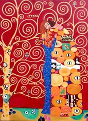 'Abraço' (Cynthia Castejón) Tags: cynthiacastejon acrílica acrylicon canvas klimt pintura tchá arte releitura cores