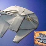 Origami Millennium Falcon (Star Wars) by Shu Sugamata