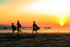 Regress (Aranya Ehsan) Tags: life lifestyle color colors goldenhour travel seabeach bangladesh chittagong minimal minimalism boys sun