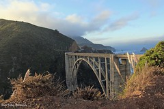 In the wee hour of the morning at the Bixby Bridge (GerdaKettner) Tags: centralcoast bigsur bixbybridge bridges california californiacentralcoast
