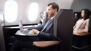 West Jet - business class working