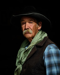 ╩    Clayton (nevadoyerupaja) Tags: wyoming cowboy portrait spring outfitter usa grandson kid boy granddad griffinstetter dubois claytonvoss stetteroutfitters lazytxoutfitters eastforkofthewindriver
